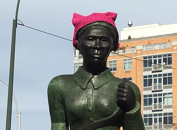 Harriet Tubman Statue Defiled With Pink Pussy Hat New York