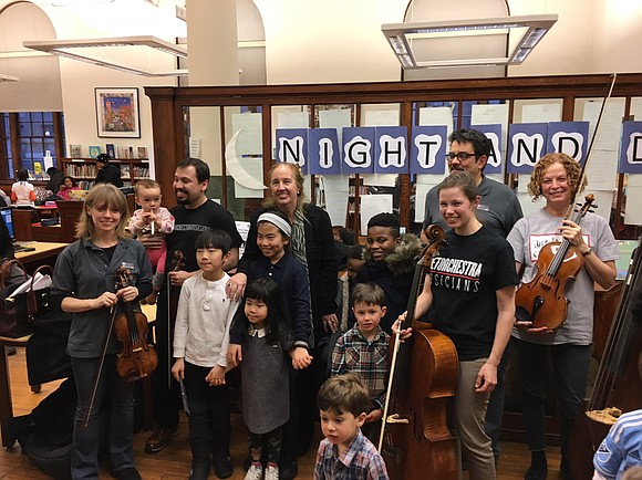 Members of the MET Orchestra were joined by Manhattan Borough President Gale Brewer at the New York Public Library's Harry ...