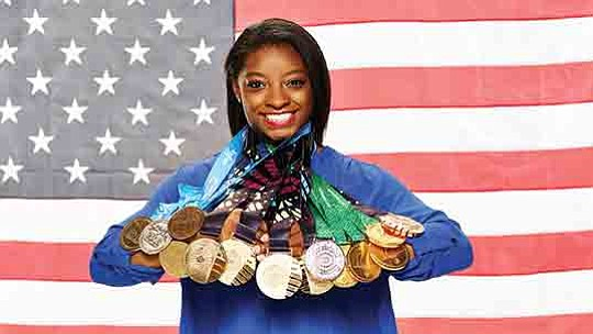 Although she didn't testify, Olympic gold medal champion Simone Biles showed total..