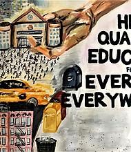 Medgar Ever College mural