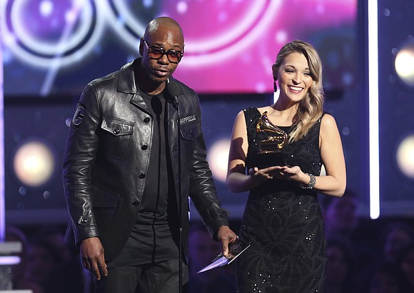 The 60th Grammy Awards primetime broadcast featured no awards handed out for rock or R&B, but comedy — and Dave ...
