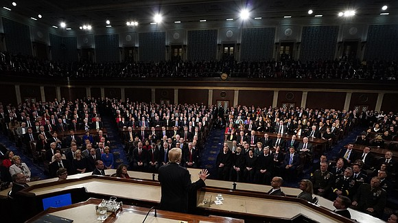President Donald Trump's call for American unity in his first State of the Union address struck an us-versus-them tone for ...