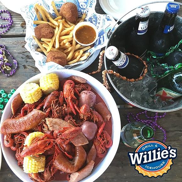 "Willie's Grill & Icehouse – known for serving ""Great Food and More Fun"" to Texans – is celebrating Mardi Gras ..."
