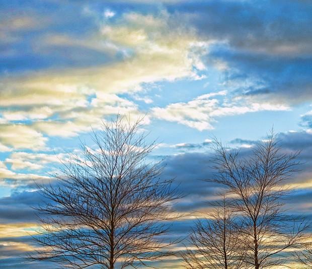 Evening sky in Randolph