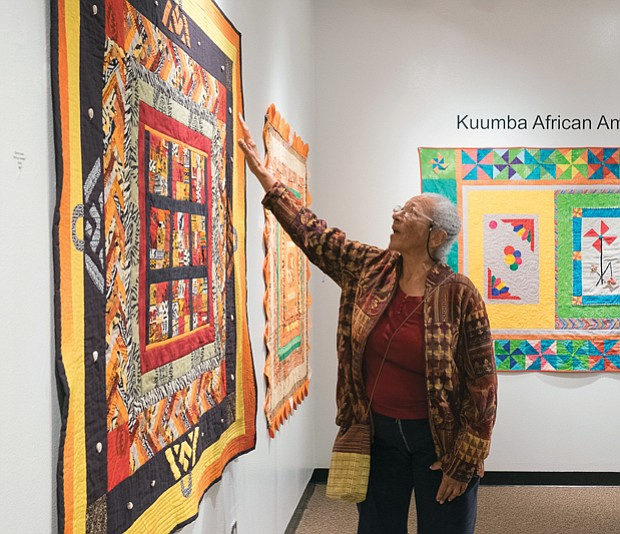 'Round Robin' quilt exhibit at Pine Camp //