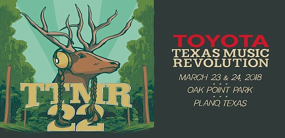 Dallas area radio station KHYI The Range is hosting Toyota Texas Music Revolution 22 March 23-24, 2018 at Oak Point ...