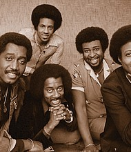 The famed Motown group The Temptations in a historical photos shows (front, from left) Otis Williams, Melvin Franklin and Glenn Beonard and (back, from left) Richard Street and Dennis Edwards. Edwards died Thursday. He was 74.