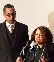 State Rep. Nicholas Smith and Judge Freddrenna Lyle