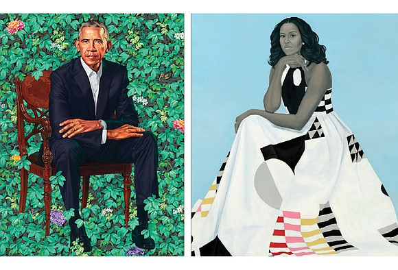 "They have been called ""stunning,"" ""compelling,"" ""powerful"" and ""unexpected."" And now, the official portraits of former President Obama and his ..."