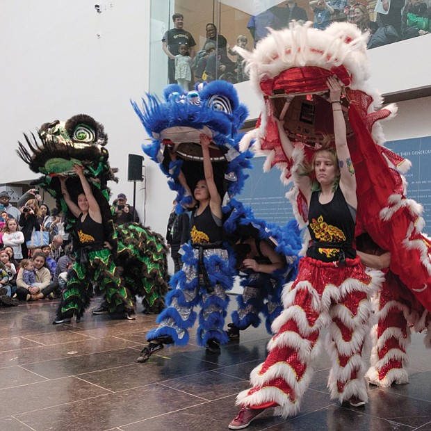 Celebrating the Year of the Earth Dog // Members of The Pride: Lion Dance at UVA perform Saturday at 2018 ChinaFest, the Virginia Museum of Fine Arts' celebration of the Chinese New Year and the welcoming of the Year of the Earth Dog. The event also featured colorful performances and demonstrations by kung fu experts and Yu Dance Arts, which used a fusion dance style to present a new look at traditional Chinese dances.