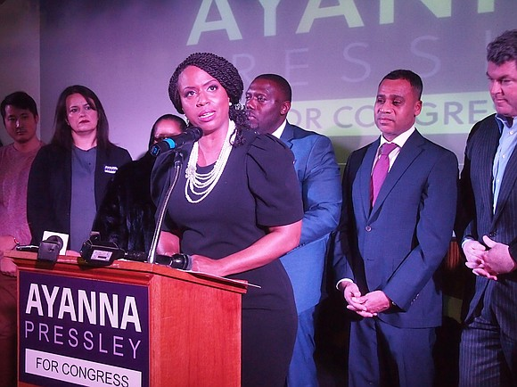 At-large City Councilor Ayanna Pressley kicked off her campaign for the 7th Congressional District at a Cambridge restaurant Feb. 13, ...