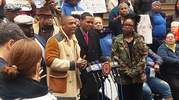 Continuing their fight against the city, NYCHA residents and elected officials gathered on the steps of City Hall Tuesday to ...