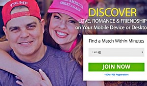 "Barrett ""Brett"" Riddleberger and Jodi Riddleberger  featured on TrumpDating.com (screenshot)"