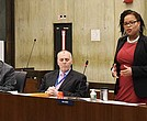 District 7 City Councilor Kim Janey makes her first speech on city council floor last Wednesday.