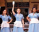 "(l-r) Lenne Klingaman, Desi Oakley and Charity Angél Dawson in the National Tour of ""Waitress."""