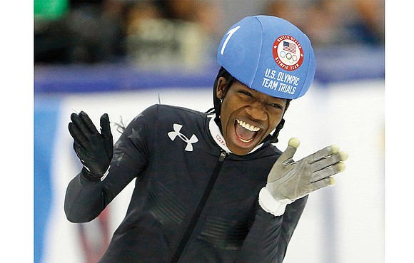U.S. speedskater Maame Biney, 18, has a smile that can light up any room, a giggle that has charmed Olympic ...