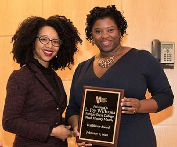 Medgar Evers College recently honored L. Joy Williams, president of the Brooklyn chapter of the National Association for the Advancement ...