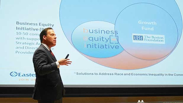 Bob Rivers, Chairman and CEO of Eastern Bank, spoke about successful programs to support greater capacity, capital and revenue for black- and Latino-owned businesses.