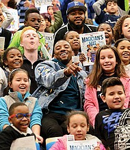 New England Patriots player Malcolm Mitchell joined Mayor Martin Walsh and 350 students from BPS in a Reading Rally Program run by Mitchell, who authored the children's book The Magician's Hat.