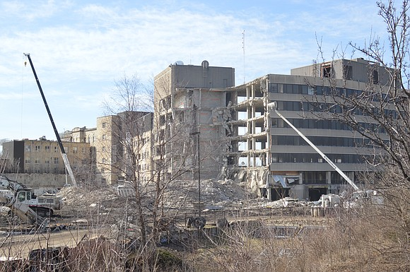 Crews began the demolition of the former Silver Cross Hospital site in Joliet last week, the first step toward redeveloping ...