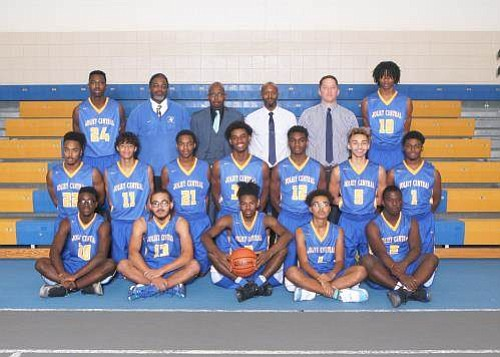 The Joliet Central Varsity Boys Basketball Team picked up their 20th win of the season with a dominating win over ...