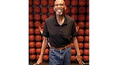Author, activist and former NBA basketball player Kareem Abdul-Jabbar poses at the Newport Beach, Calif., offices of the Skyhook Foundation, the nonprofit he started several years ago to provide educational opportunities for elementary students.