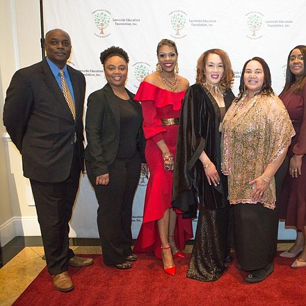 The Lawnside Education Foundation, Inc. 2017-18 Board of Trustees pictured (L to R) Christopher Raines, LaTosha Thomas, Dr. Stephanie James-Harris, Dr. Sandra G. Strothers, President, Judi-Lynn Willis, Vice-President, Shannon Crowley, Treasurer,  Michele Vickers, and Douglas Hughes.