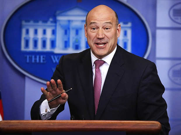 In this Jan. 23, 2018, file photo, White House chief economic adviser Gary Cohn, speaks to reporters during the daily press briefing in the Brady press briefing room at the White House, in Washington. Cohn is leaving the White House after breaking with President Donald Trump on trade policy. (AP Photo/Manuel Balce Ceneta, File)