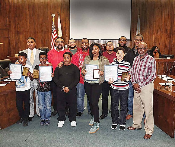 The City of Harvey along with Harvey-Dixmoor School District 147 honored the six students from Rosa Parks Middle School at ...