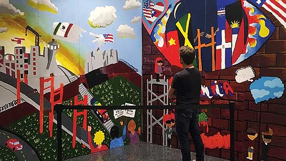 """On Wednesday, March 1, Art Resource Collaborative for Kids unveiled """"Paredes Que Hablan (Walls that Speak),"""" a mural students at ..."""