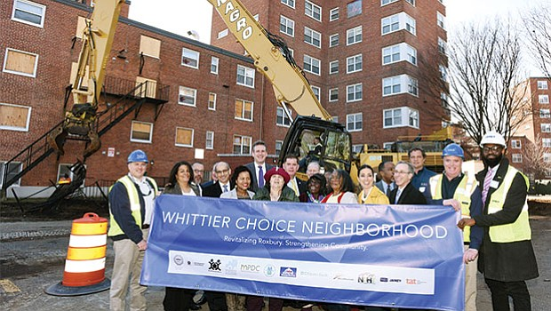 Elected officials gathered for the groundbreaking for phase one of the $30 million Whittier Choice redevelopment program.