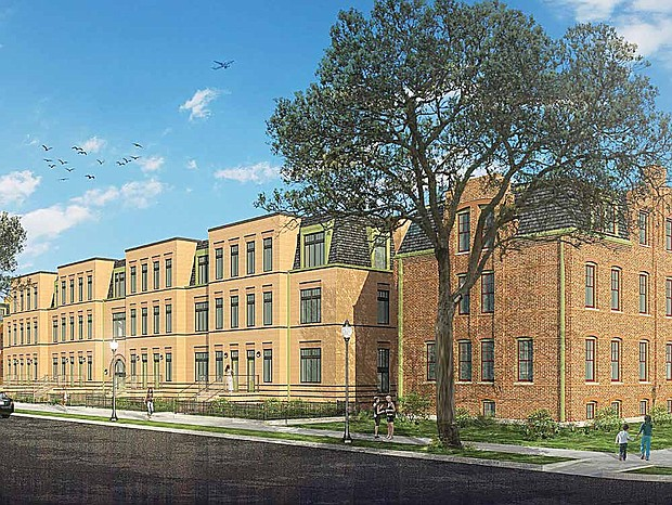 Artspace, Pullman Arts, and Chicago Neighborhood Initiatives recently announced that they will break ground on the Pullman Artspace Lofts (pictured) in Spring of 2018. The housing development will be located on Langley Ave, just south of 111th St. and is a unique combination of historic preservation and modern construction. Photo Credit: Santec