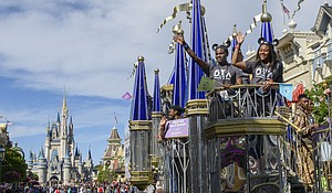 High school students from across the United States star in a special parade Thursday, March 8, at Magic Kingdom in Lake Buena Vista, Fla. to signal the beginning of the 11th annual Disney Dreamers Academy with Steve Harvey and ESSENCE magazine. The event, taking place March 8-11, 2018 at Walt Disney World Resort, is a career-inspiration program for distinguished high school students.