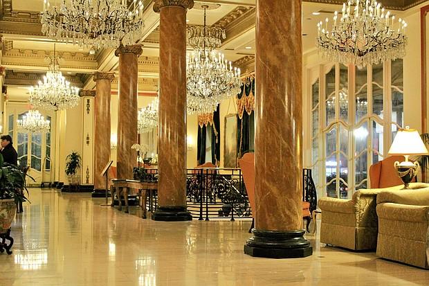Grand Lobby of Le Pavillon Hotel