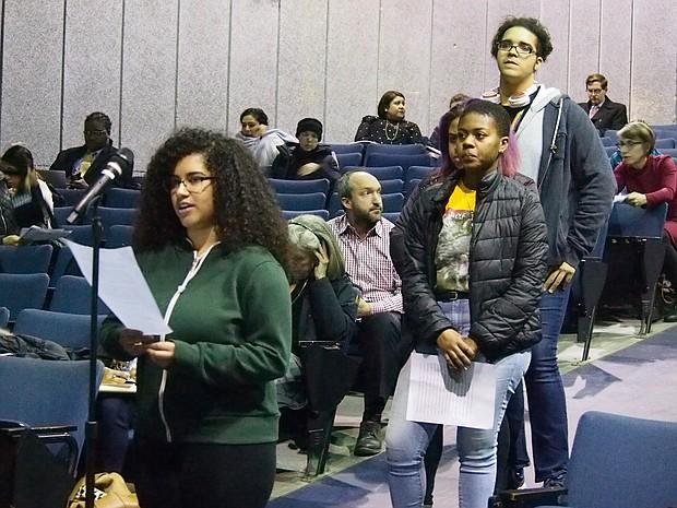 Mabel Gondres testifies.