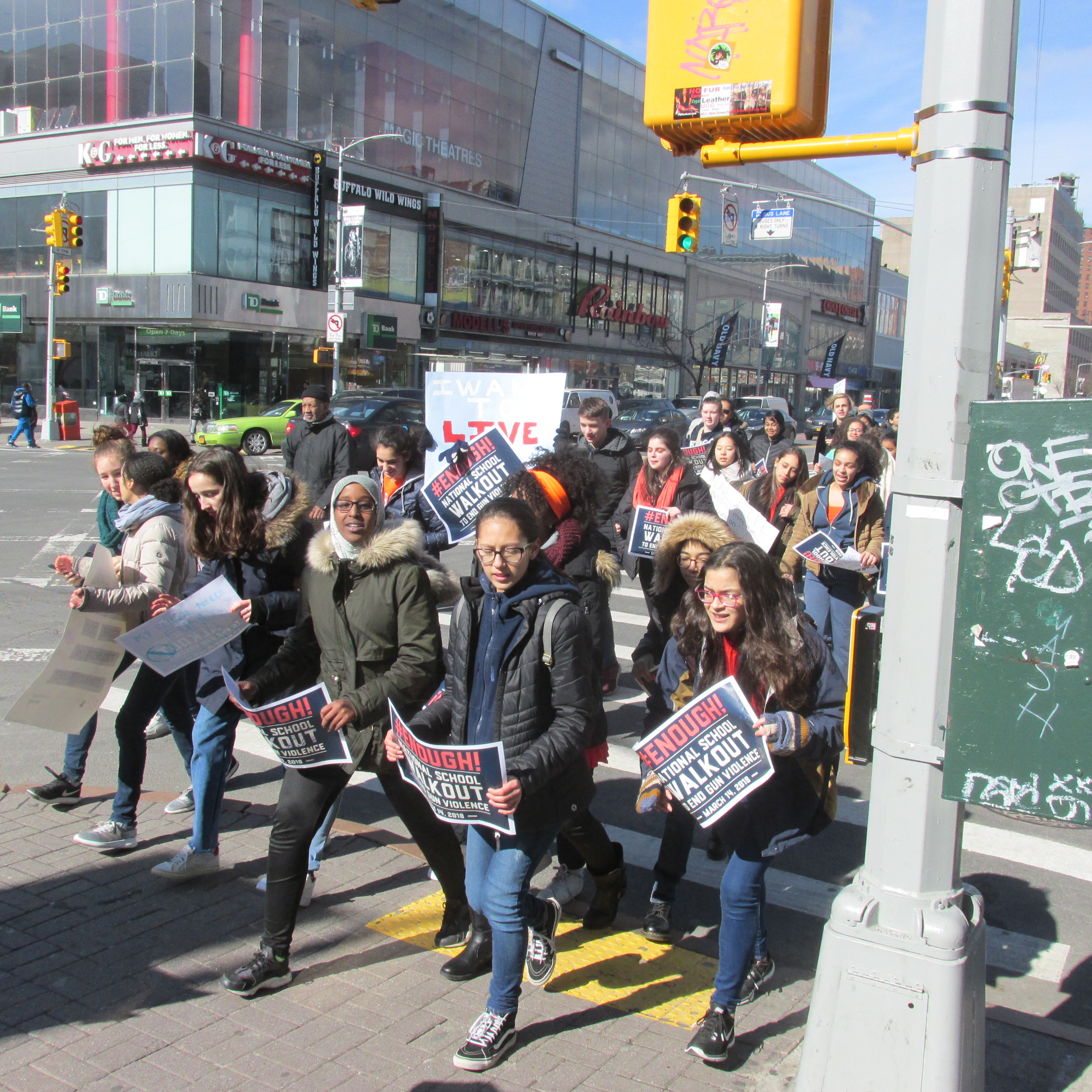 National School Walk Out: Students Participate In National School Walkout Against