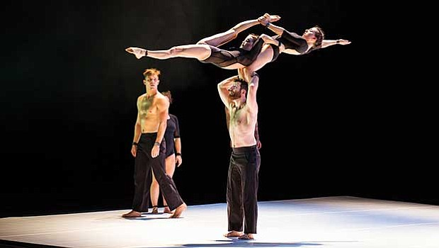 """Marty Evans, Nathan Boyle, Cecilia Martin and Bridie Hooper in Circa's """"S."""""""