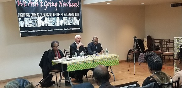 "Saturday, March 3, the December 12th Movement International Secretariat held a historic, citywide tribunal/hearing on ""We Ain't Going Nowhere! The ..."