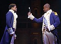 Michael Luwoye and Isaiah Johnson star in the hit Broadway musical 'Hamilton.'