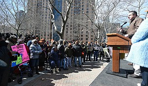 Gov. Andrew Cuomo announces additional funding for NYCHA at Taft Houses in East Harlem.