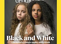 The cover of the April 2018 issue of National Geographic magazine, a single topic issue on the subject of race. (National Geographic via AP)