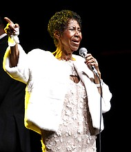 In this Nov. 7, 2017 file photo, Aretha Franklin attends the Elton John AIDS Foundation's 25th Anniversary Gala in New York. (Photo by Andy Kropa/Invision/AP, File)