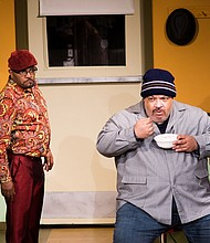 "Ken Dembo and Tim Golden star in the Portland production of ""Two Trains Running,"" now playing through April 1 at the Interstate Firehouse Cultural Theater."