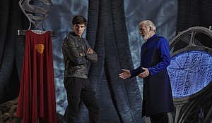 """At a glance """"Krypton"""" looks like this year's version of """"Gotham,"""" inasmuch as each of these comic-book prequels has as big donut hole in its plot, structured around a marquee character (there, Batman; here, Superman) who doesn't appear as we've come to know him. Source:Gavin Bond/Syfy/Full Gallery"""