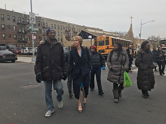 Cynthia Nixon is getting an up close and personal look at the problems tenants have been facing as she tours ...