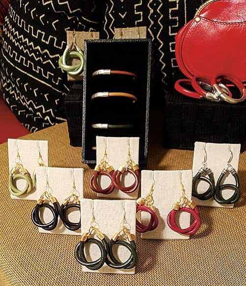 Juanda Siddiqui's Cultural Findings line of accessories features high-quality materials and designs that work well dressed up or dressed funky.