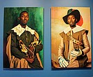 "Photographs from Omar Victor Diop's ""Diaspora"" self-portrait series pictures the artist dressed in the garb of the 17th-century upper class."