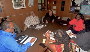NYCHA Tenant Leaders Ronald Topping, Lilithe Lozano and Carmen Quinones sit down with the Amsterdam News.
