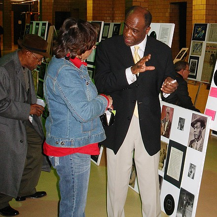 "Introducing ""Alvin Kirby Brunson Way,"" a Street named changing ceremony in remembrance of Alvin Kirby Brunson, historian, educator, visionary and founder of the Center for Cultural Education, Inc. on Friday, March 30 from noon to 1 p.m. (formerly 500 block of Wilson Street). Alvin Brunson displaying his artwork. He was a very gifted and talented artist who cared about out community."
