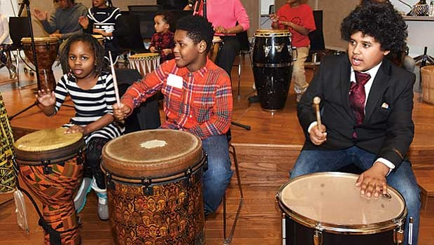 Students from Paige Academy perform in the 2018 Boston Cultural Council's Grantee Reception.